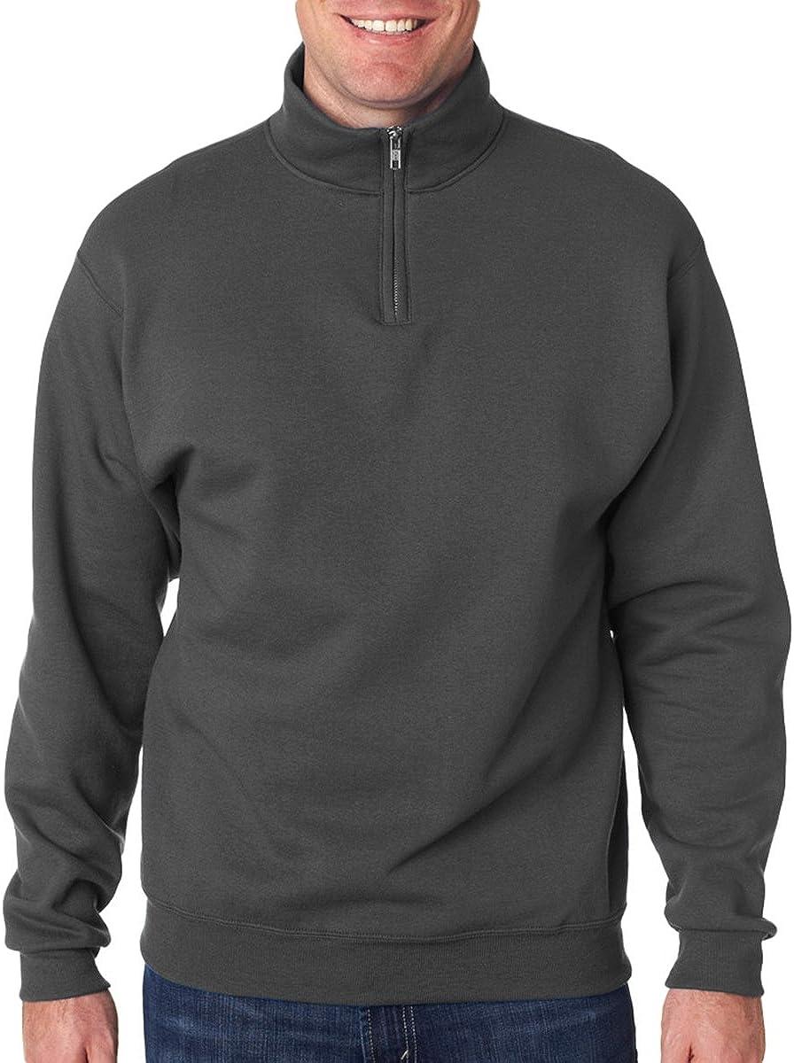 Jerzees Men's NuBlend 1/4 Zip Cadet Collar Sweatshirt 61sdj8G%2Bt9L