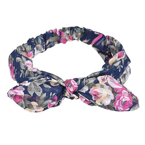Vovotrade La mujer Yoga elástico arco diadema turbante Anudado Rabbit Hair Band Headband