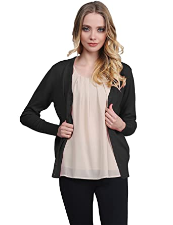 Awesome21 Women's Basic Solid Sweater Cardigans at Amazon Women's ...