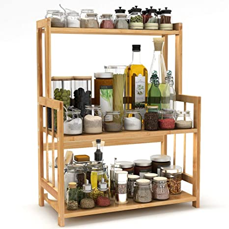 Amazing Amazon Com 3 Tier Standing Spice Rack Little Tree Kitchen Interior Design Ideas Clesiryabchikinfo