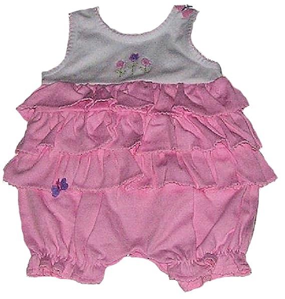 6b21989edb5f Amazon.com  LeTop Baby-girls Pink Ruffles Bubble  Clothing