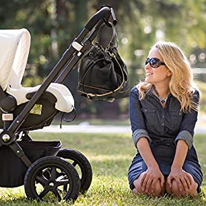 Set of 2 - Large Multi Purpose Stroller Hooks Organizer for Hanging Purses, Diaper Bag, Shopping Bags. Clip Fits Single/Twin Travel Systems, Car Seats and Joggers, Durable and Lightweight by BabyDu