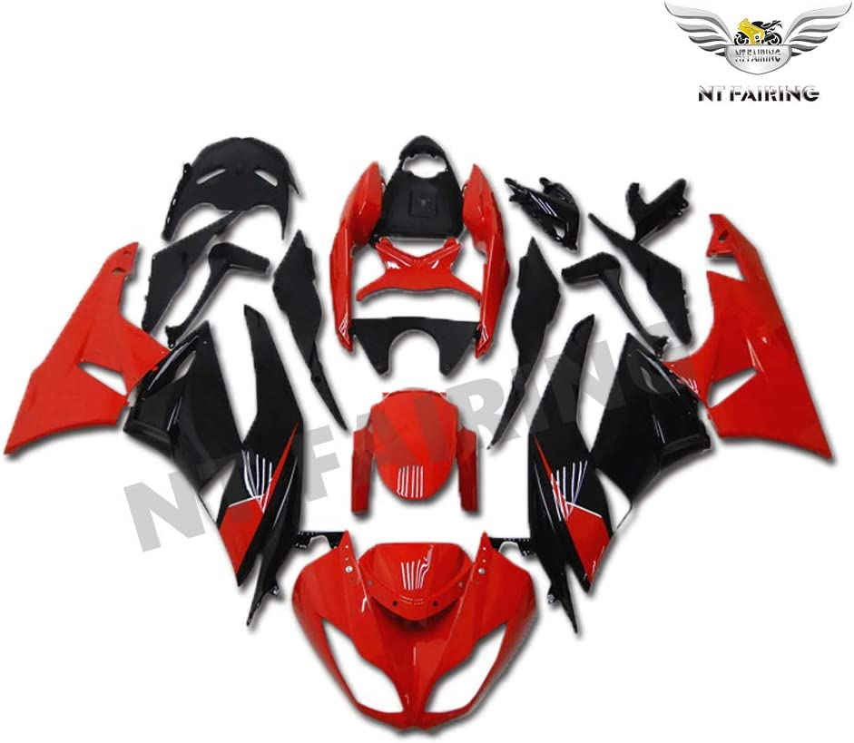 NT FAIRING Red Black Fairing Fit for KAWASAKI NINJA 2009-2012 ZX6R 636 New Injection Mold ABS Plastics Bodywork Body Kit Bodyframe Body Work 2010 2011 09 10 11 12 ZX-6R
