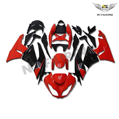 NT FAIRING Red Black Fairing Fit for KAWASAKI NINJA 2009-2012 ZX6R 636 New Injection Mold ABS Plastics Bodywork Body Kit Bodyframe Body Work 2010 2011 ...