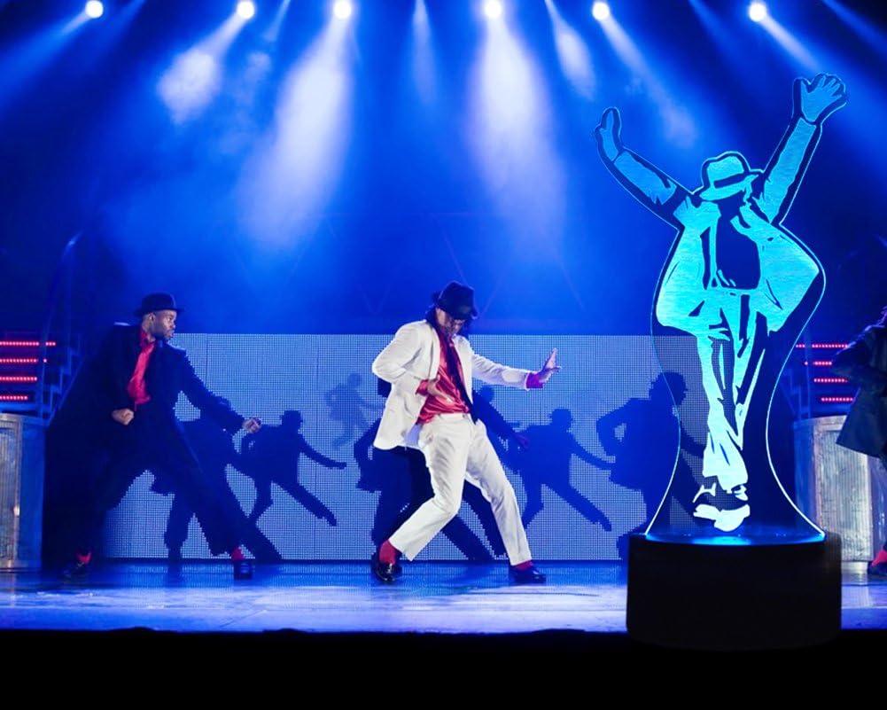 Michael Jackson Geschenk 3D Optische Illusions-Lampen 7 Farben Touch-Schalter /Ändern Nachtlicht F/ür Schlafzimmer Home Decoration