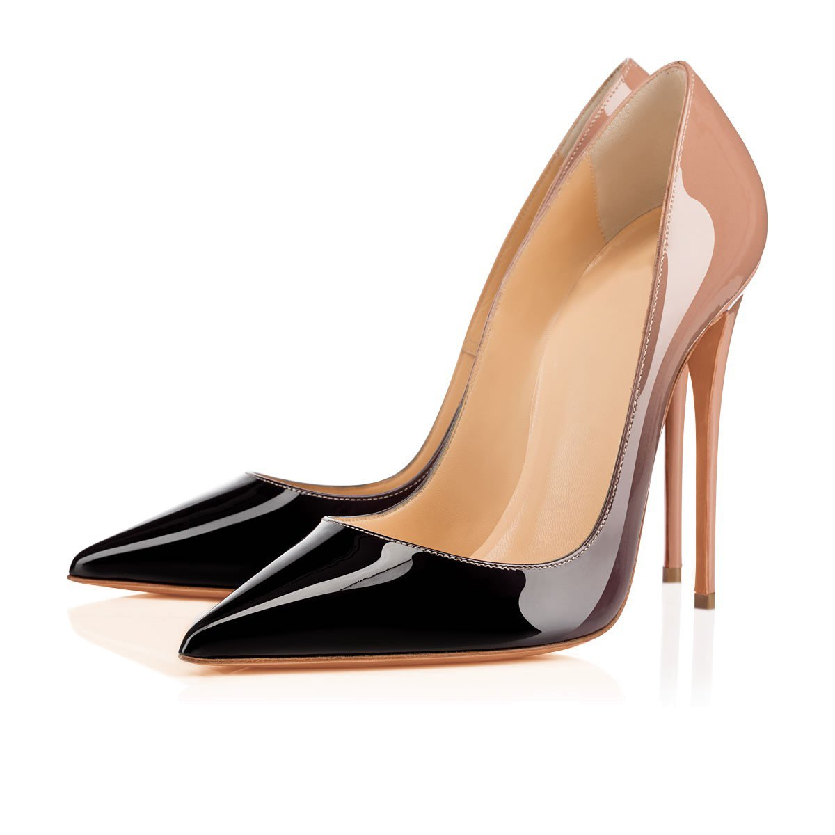 Arc-en-Ciel007 Womens Shoes Pointed Toe High Heel Patent Leather Pump
