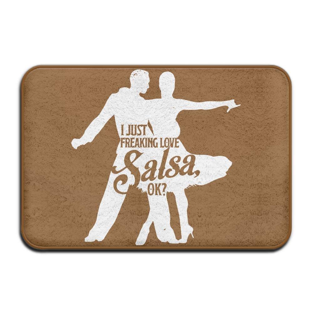 Inside & Outside Doormat I Just Freaking Love Salsa Dance Dancing Design Pattern For Pet Cat Dog Feeding Mat