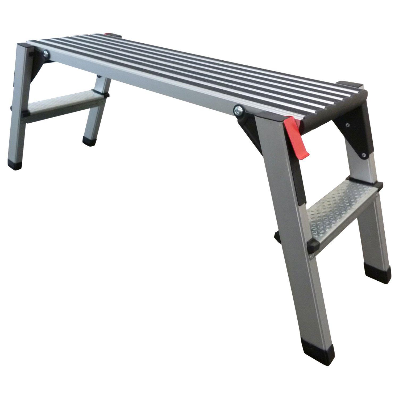 48 cm Arbeitsh/öhe Arbeitsplattform Arbeitsb/ühne Ger/üstleiter 70 cm oder 48 cm Arbeitsh/öhe Aluleiter Tritt Stufentritt