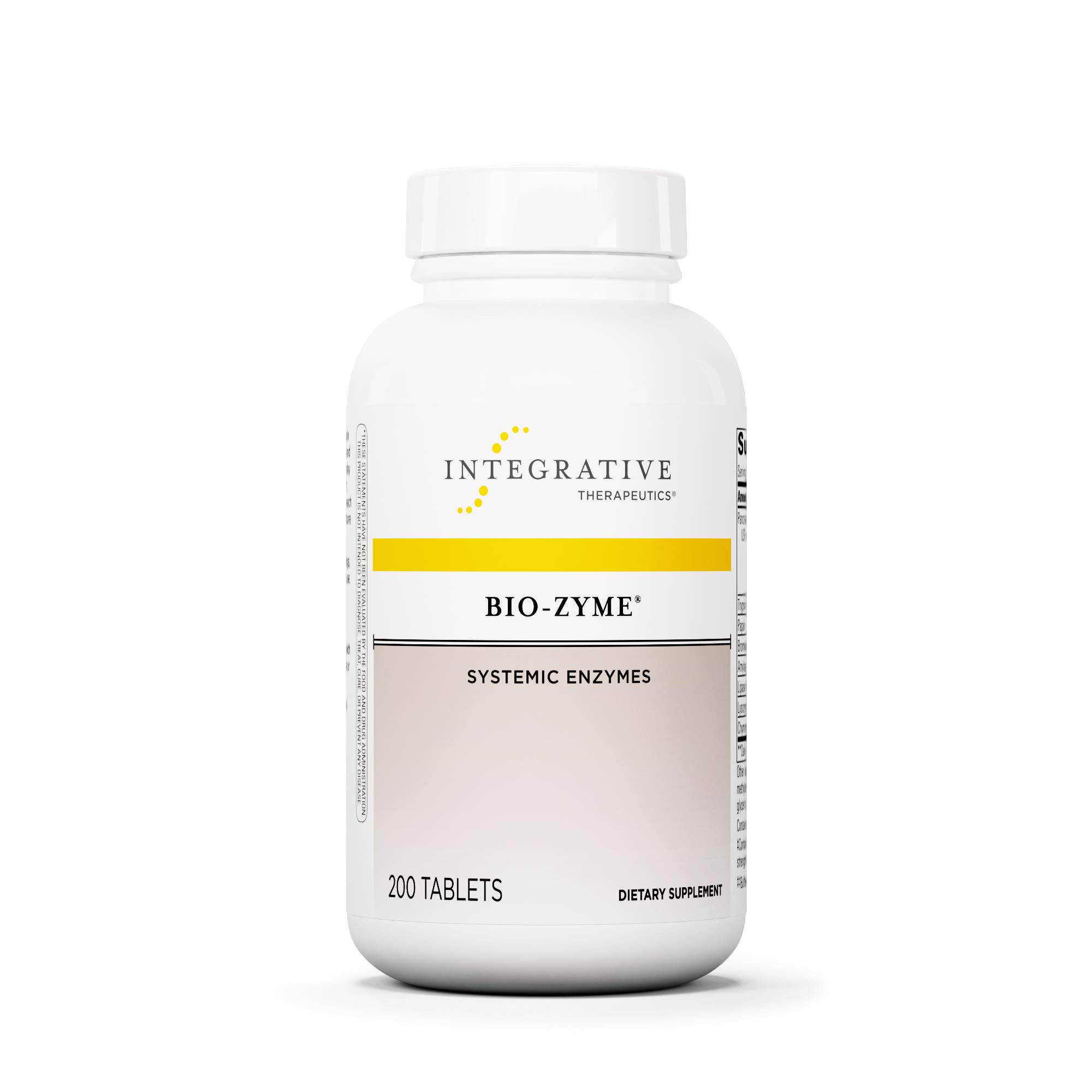 Integrative Therapeutics - Bio-Zyme - Systemic Enzymes - Full-Strength Pancreatic Enzyme Complex to Support Digestive Health - 200 Tablets