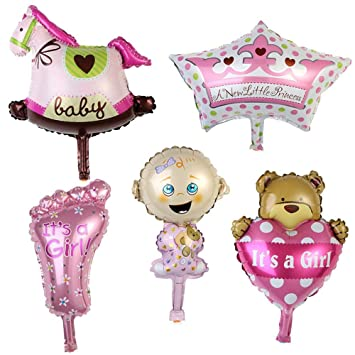 Amazon.com: TEEPAO globos de fiesta para bebé niña, juego de ...