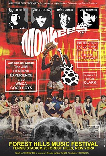CARL LUNDGREN ART MONKEES with JIMI HENDRIX Concert Poster 19