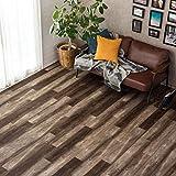 フロアタイル 貼るだけ フローリングタイル [12枚セット/No.6バーンドオーク] 約1畳用分 木目調 接着剤付き DIY 床材 簡単 フロアーマット