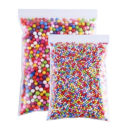 (CCINEE 16 Grams 3-5mm Colorful Foam Beads 6-8mm Assorted Size Styrofoam Beads Balls for Kids DIY Slime Making and Party Decoration 30000pcs)