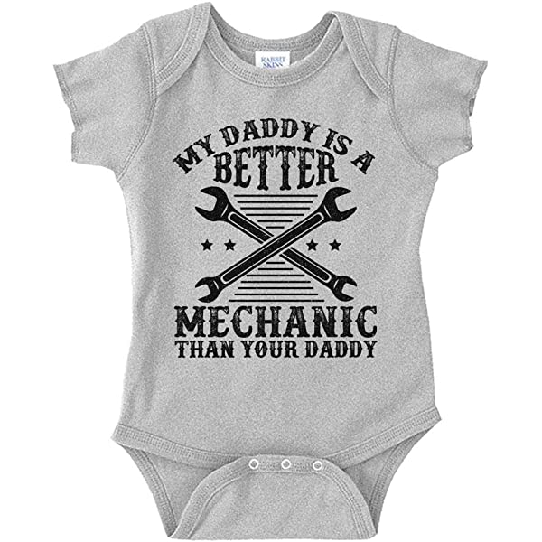 BICYCLE REPAIRER BODY SUIT PERSONALISED DADDYS LITTLE BABY GROW GIFT