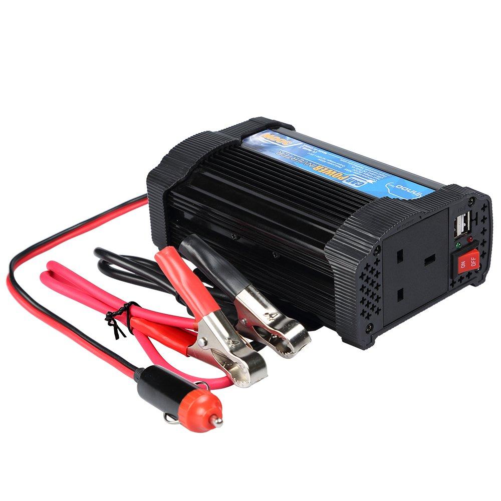 Innoo Tech 300W Power Inverter DC 12V to 230V AC Converter 2.1A Dual USB Car Charger