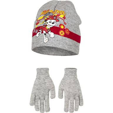 5597494406d21 OFFICIAL PAW PATROL MARSHALL HAT AND GLOVES 2-4YR  Amazon.co.uk  Clothing