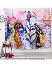 Chickwin Arazzo Piuma Stampa, Grande Nordico Naturale 3D Arazzo da Muro Decorazioni per la Casa Camera da Letto Soggiorno Tappeti da Parete Casual
