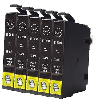 caidi 5 negro compatible cartuchos de tinta de repuesto para EPSON ...