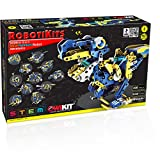 OWI - Dodeca 12-in-1 Solar Hydraulic Robot Kit, Blue, Yellow