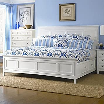 Amazon Com Magnussen Kentwood Panel Bed With Storage In White