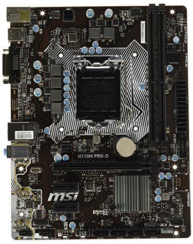 MSI Intel Skylake H110 LGA 1151 DDR4 USB 3.1 Micro ATX Motherboard (H110M Pro-D)
