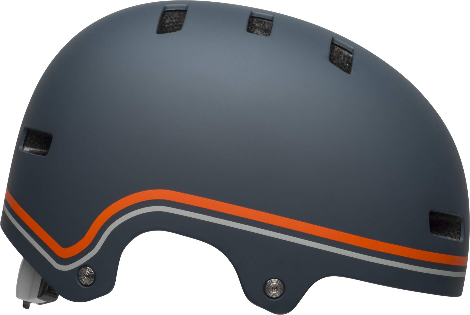 Bell Local Adult BMX & Skate Helmet (Classic Matte Slate/Orange (2019), Small)