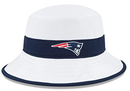 29fa00e52be Image Unavailable. Image not available for. Color  New England Patriots New  Era NFL 2015 Training Camp Sideline Bucket Hat - White