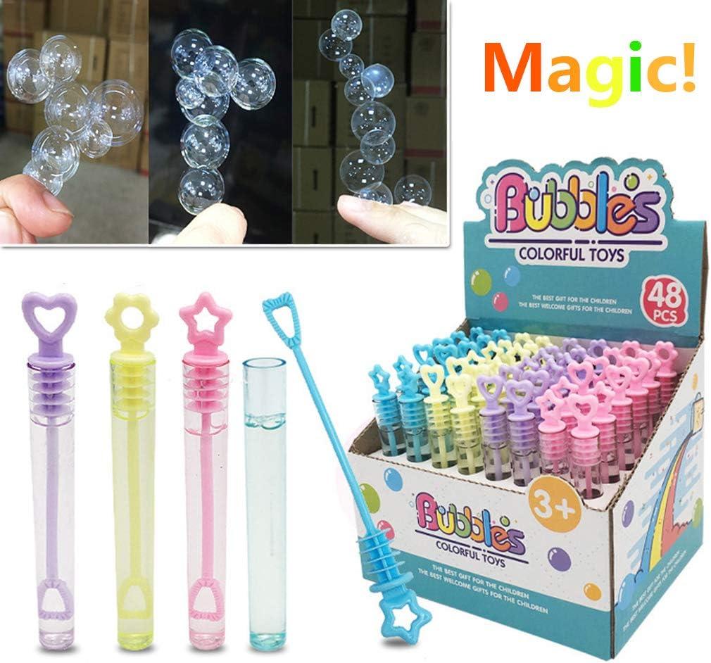 WANGYUMI 6PCS Super Magic Bubble Soap Bottles Wont Burst Bubbles Blower Magic Toy Wedding Birthday Party Favors Bubbles Maker Kids Outdoor