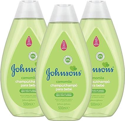 Johnsons Baby Champú Camomila, Ideal para Toda la Familia - 3 x 500 ml: Amazon.es: Belleza