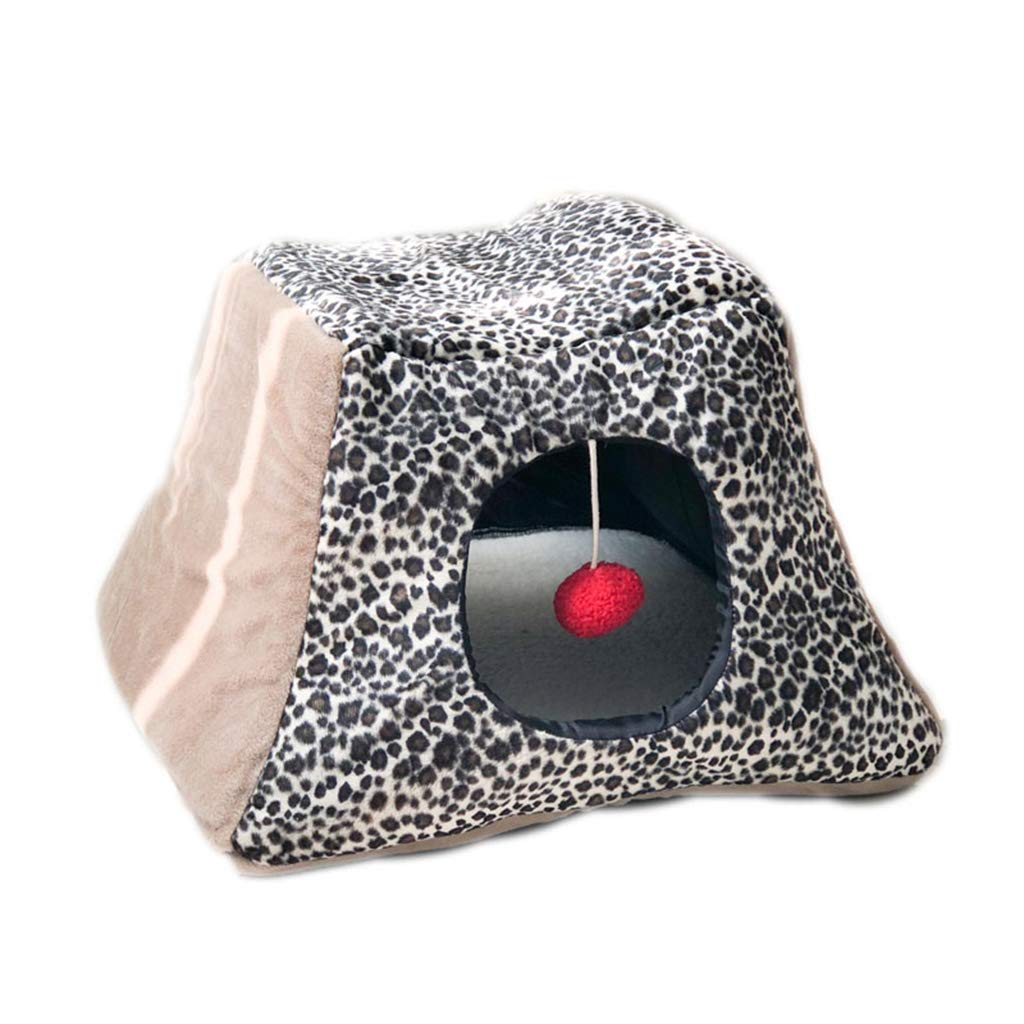 Closed Cat Nest Cat Tent, Warm Indoor Cat Bed House Cozy Cat Sleeping Bag Pet Tent Pet Cave for Puppy and Cat
