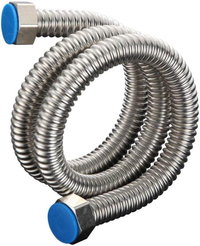 Kutera Robinet de tuyau tress/é en m/étal tuyau dalimentation deau chaude et froide haute pression accessoires de salle de bains tube antid/éflagrant en m/étal 5 m/ètres