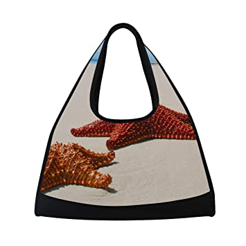 ff2ef7d6eb83 Amazon.com : HUVATT Sports Bag Beach Starfish Special Mens Duffle ...