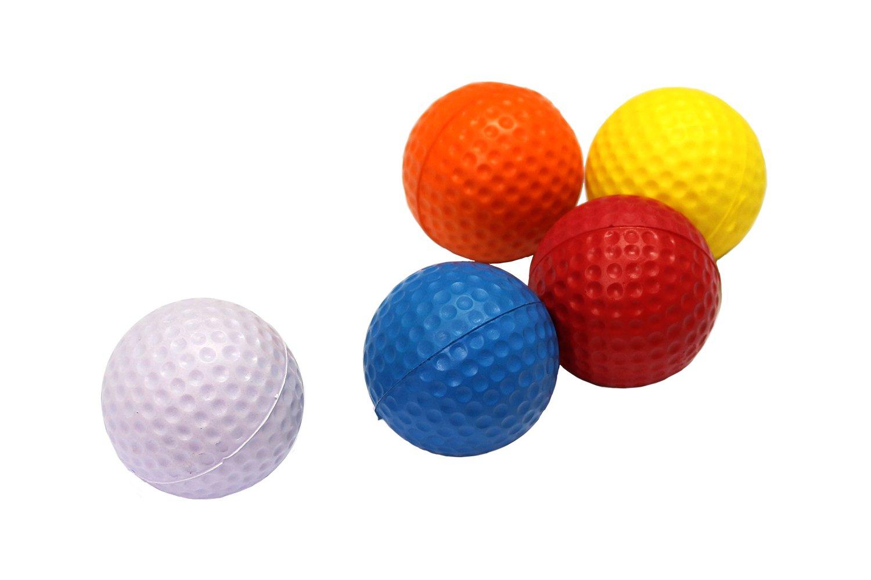 POSMA HM040AA Golf Backyard Golf Mat 12''x24''(30 x 60 CM), 30pcs Multi Color PU Practice Balls, 2pcs Tour Ball, and Cinch Sack Carry Bag by POSMA (Image #6)