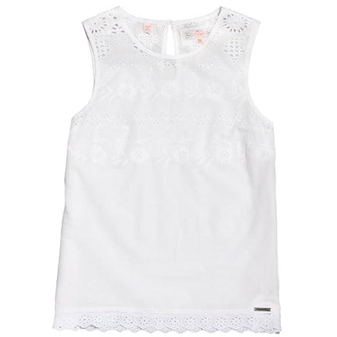 850c521f5928 Superdry Girls  Tank Top - White - XS  Amazon.co.uk  Clothing