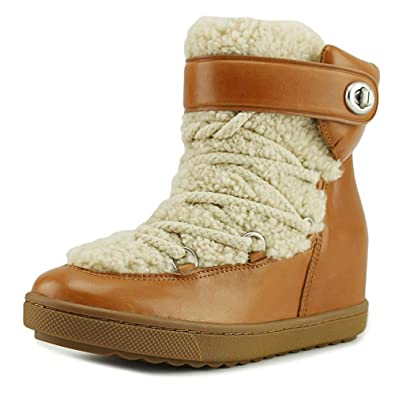 Womens Monroe Leather Round Toe Mid-Calf Cold Weather Boots