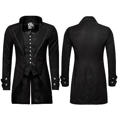 8fa1885e07d2 Gentleman Männer Gefälschte Zweiteilige Anzug Mantel Steampunk Swallow Tail  Formelle Mantel Winter Smoking Mäntel  Amazon.de  Bekleidung