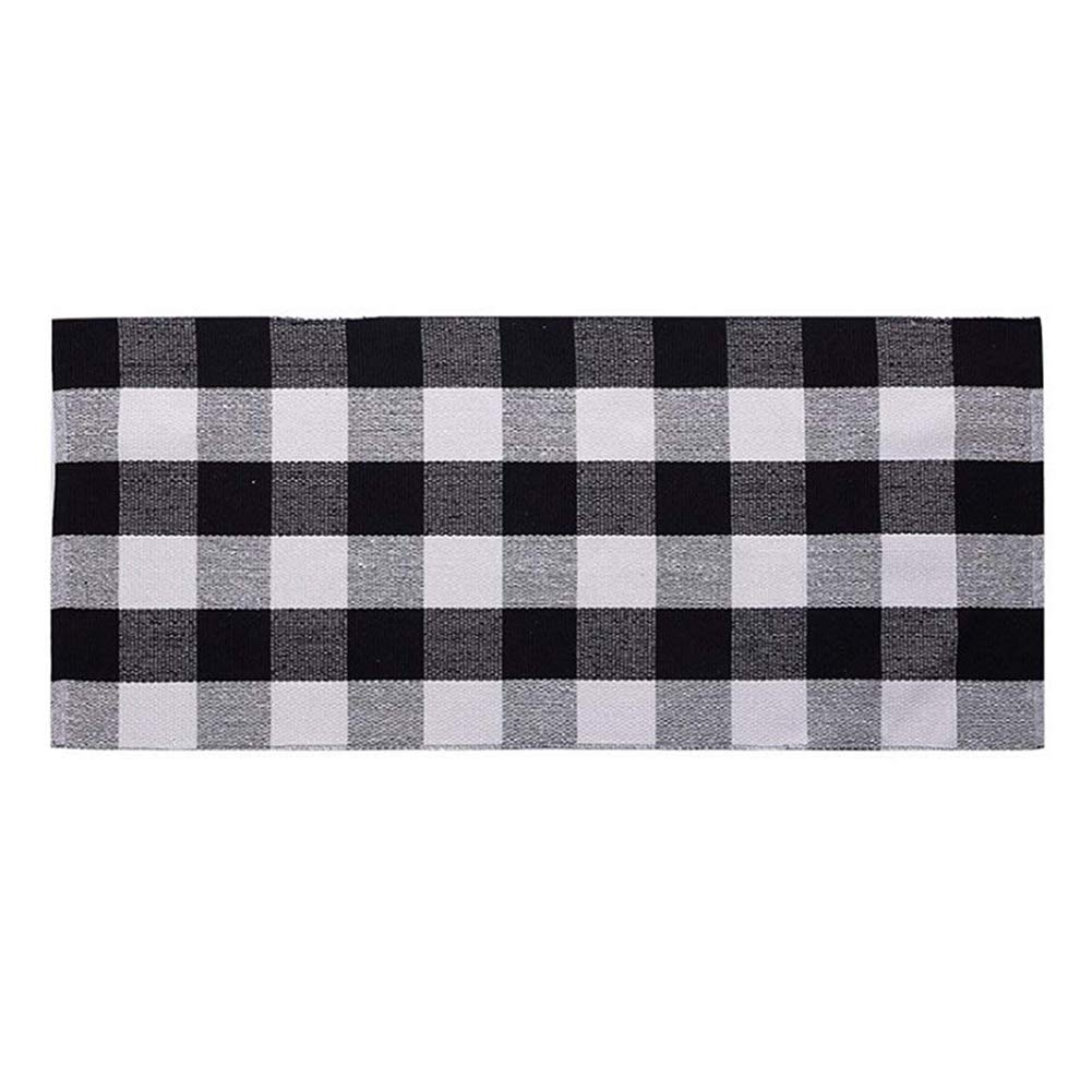Ukeler Cotton Rug Hand-Woven Buffalo Checkered Kitchen