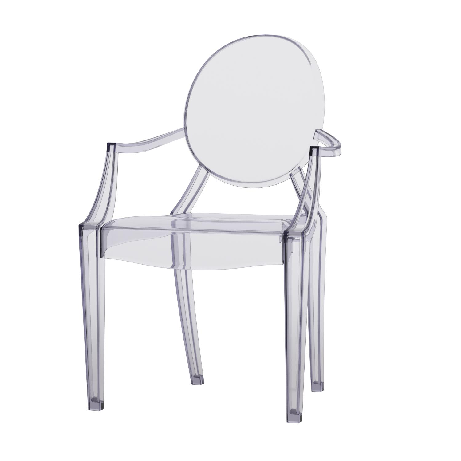 Amazon Flash Furniture Ghost Chair with Arms in Transparent