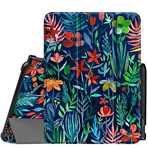 Fintie Slim Shell Case for Samsung Galaxy Tab S3 9.7, Super Slim Lightweight Stand Case with S Pen Protective Holder Auto Sleep/Wake for Tab S3 9.7 Tablet (SM-T820/T825/T827) 2017 Release,Jungle Night