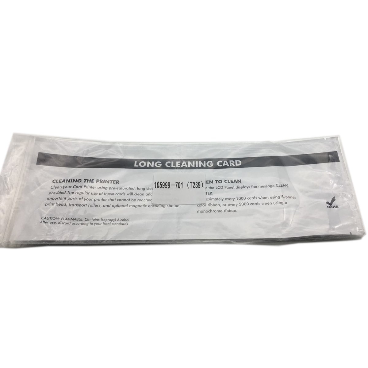 Cleaning Kits CM-105999-701 for ZXP 7 card Printer, Pack of 12 print path cleaning cards and 12 feeder cleaning cards