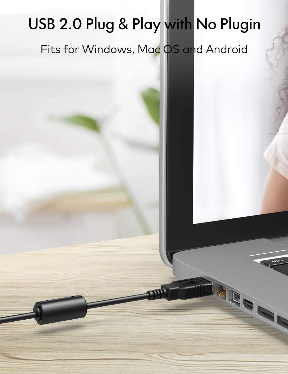 conferencias grabaci/ón Roffie C/ámara Web Full HD 1080P con micr/ófono Estudios computadora port/átil PC Webcam de Escritorio USB 2.0 Webcam para videollamadas Juegos con Clip Giratorio