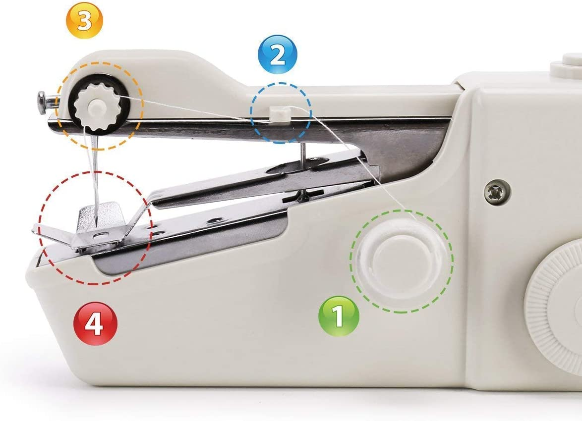 Quick Handy Stitch for Fabric Clothing Kids Cloth Pet Clothes W-Dragon Handheld Sewing Machine Battery Not Included Cordless Handheld Electric Sewing Machine