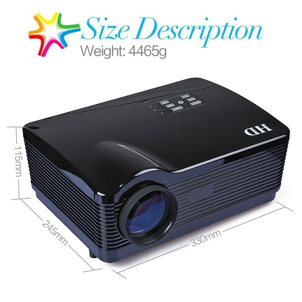 Flylinktech H1 LED Proyector HD 1080P DVB-T con Proyector de TV ...