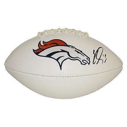 Emmanuel Sanders Denver Broncos Autographed White Panel Football ...