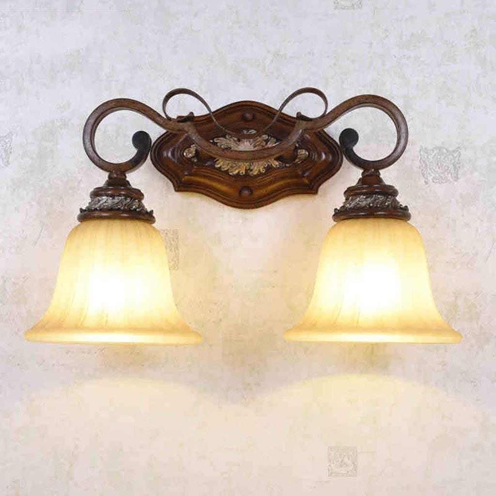 GZ Muebles para el hogar Lámpara de Pared Vintage Espejo Lámpara Delantera Lámpara de Hierro Lámpara de baño Luz Antigua Lámpara de Pared con Carro Estilo Europeo Retro Lámpara de Pared