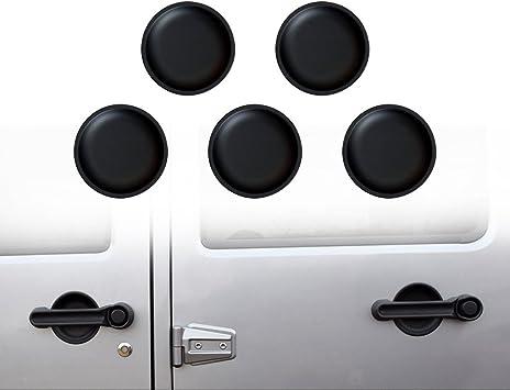 Door Handle Bowl Cover Trim Black For Jeep Wrangler JK Rubicon 4 Doors 2007-2017