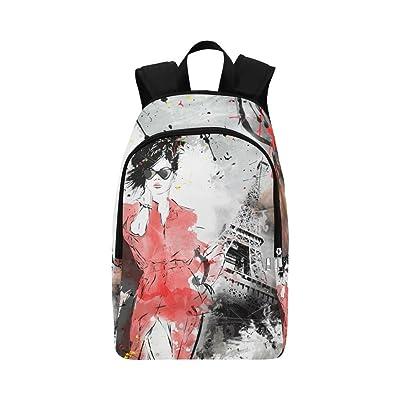 InterestPrint Unique Custom Casual Backpack School Bag Travel Daypack Gift
