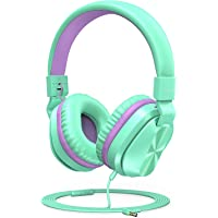 PeohZarr Kids Headphones with Microphone, 85/94dB Safe Volume Limited On-Ear Headphones for Kids Girls Boys, Foldable 3…
