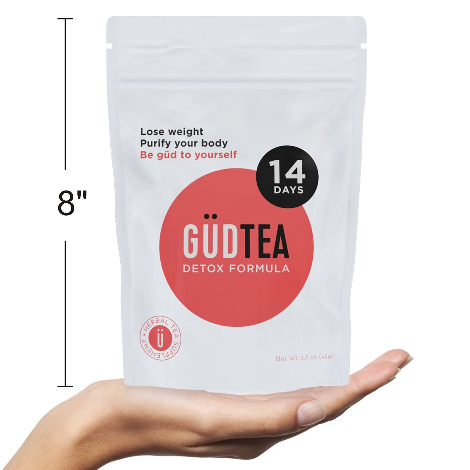 GUDTEA Weight Loss Tea: Appetite Suppressant, 14 Day Detox and Cleanse,  Reduce Bloating, Stimulate