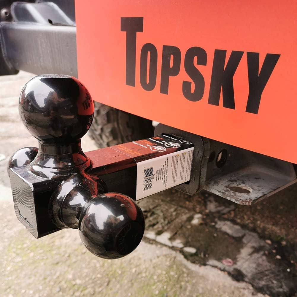 "TOPSKY Trailer Hitch Mount Tri Ball Hitch, 1-7/8"",2""&2-5/16"" Trailer Ball, Black Ball Hitch, Hollow Shank,TS2004: Automotive"